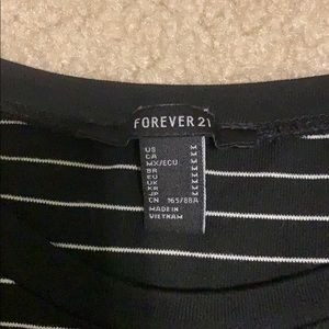 Forever 21 Tops - black and white striped top